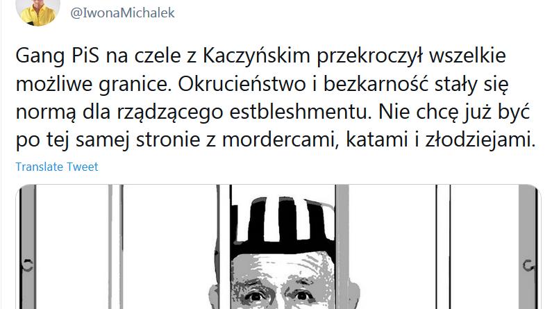 Zrzut z ekranu wpisu Iwony Michałek