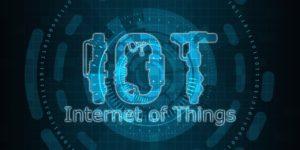 Internet of Things - grafika z liter IoT
