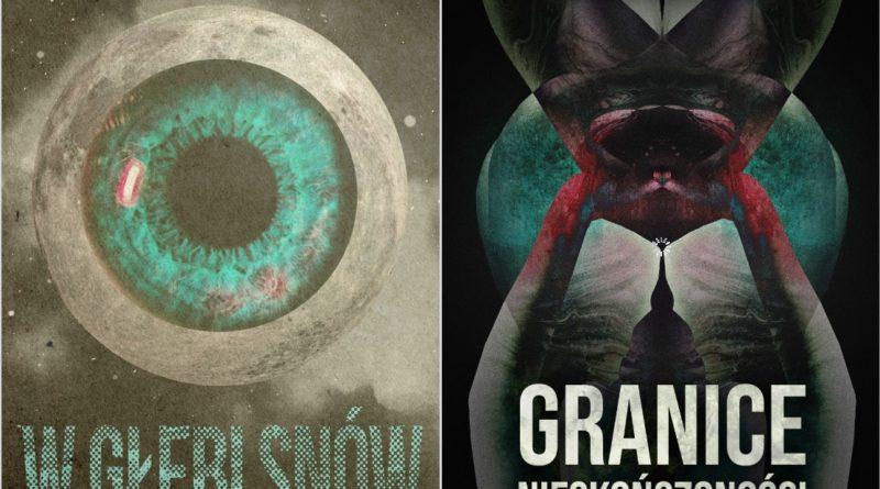 """Dwie okładki serii książek """"Zapomniane Sny"""" - po lewej W głębi snów, po prawej """"Granice nieskończoności"""""""