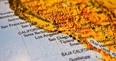 mapa Kalifornii
