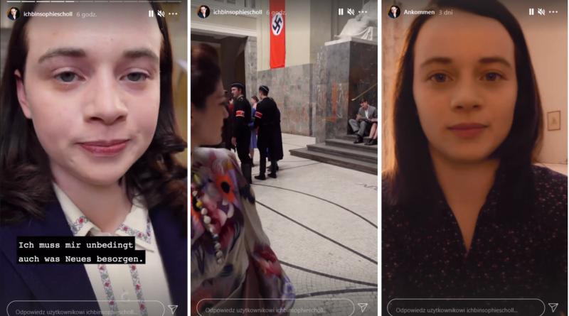 zrzuty z ekranu stories Sophie Scholl